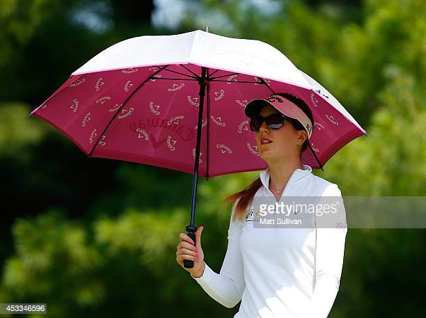 Sandra Gal of Germany walks off the tee on the second hole during the second round of the Meijer LPGA Classic at Blythefield Country Club on August 8...