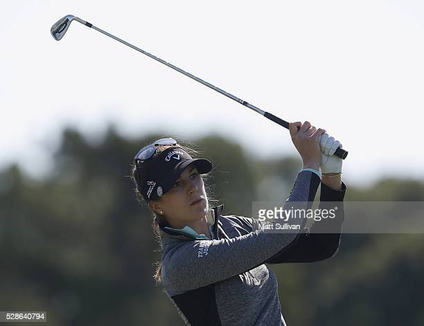 Sandra Gal of Germany watches her tee shot on the seventh hole during the second round of the Yokohama Tire Classic on May 06 2016 in Prattville...