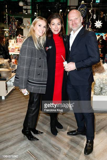 Sandra Gries Alexandra von Rehlingen and Christian Gries during the preopening of the DEPOT Flagshipstore Grosse Bleichen on November 22 2018 in...