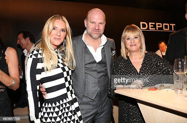 Sandra Gries Christian Gries CEO Depot and Patricia Riekel during the Tribute to Bambi 2015 after show party at Station on October 15 2015 in Berlin...