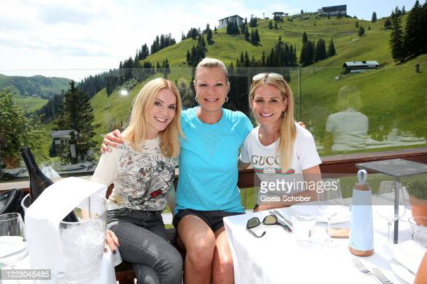 """Sandra Gries, Depot, Maria Hoefl-Riesch and Sandra Abt during the first Ladies Day and start of the """"Queens Club"""" hosted by Maria Hoefl-Riesch on..."""
