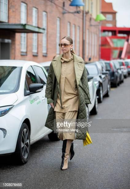 Sandra Hagelstam seen outside By Malene Birger during Copenhagen Fashion Week Autumn/Winter 2020 Day 3 on January 30, 2020 in Copenhagen, Denmark.