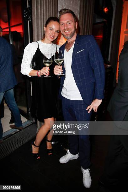 Sandra Haller and Oliver Schrader during the Bunte New Faces Night at Grace Hotel Zoo on July 2 2018 in Berlin Germany