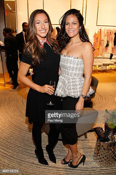 Sandra Hoffman and Hollis Pica attend the opening of the Dior boutique at CityCenterDC on January 14 2016 in Washington DC