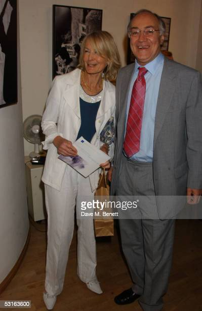 Sandra Howard and Michael Howard attend the Private View for The Sixties Set An Inside View By Robin DouglasHome at The Air Gallery on June 28 2005...