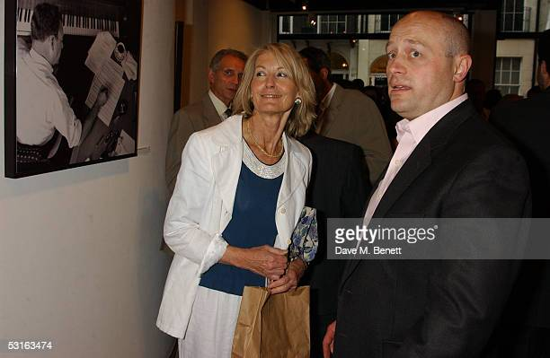 Sandra Howard and Sholto DouglasHome attend The Sixties Set An Inside View By Robin DouglasHome at the Air Gallery June 28 2005 in London England The...