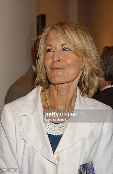 Sandra Howard attends The Sixties Set An Inside View By Robin DouglasHome at the Air Gallery June 28 2005 in London England The exhibition features...