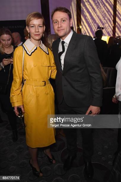 Sandra Hueller and Max Riemelt attend the Medienboard BerlinBrandenburg Reception during the 67th Berlinale International Film Festival Berlin at on...