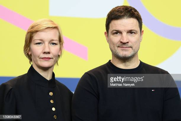 "Sandra Hueller and Misel Maticevic arrive for the ""Exil"" press conference during the 70th Berlinale International Film Festival Berlin at Grand Hyatt..."