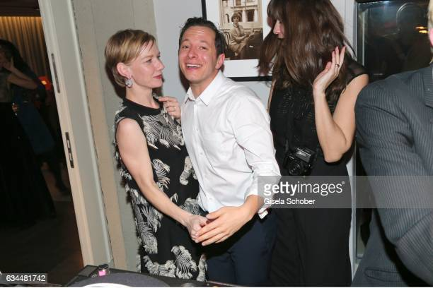 Sandra Hueller and Trystan Pytter during the Berlin Opening Night by GALA and UFA Fiction at hotel 'The Stue' on February 9 2017 in Berlin Germany