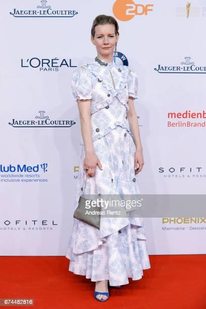 Sandra Hueller attends the Lola German Film Award red carpet at Messe Berlin on April 28 2017 in Berlin Germany