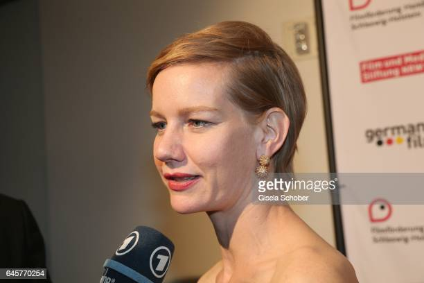 Sandra Hueller during the German Oscars viewing party of the film 'Toni Erdmann' at the Andaz Hotel on February 26 2017 in Los Angeles California