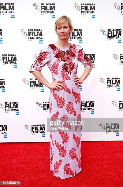 Sandra Huller attends the 'Toni Erdmann' Laugh Gala screening in association with Sight Sound during the 60th BFI London Film Festival at Embankment...