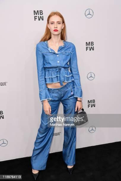 Sandra Hunke attends the Sportalm Kitzbuehel show during the Berlin Fashion Week Spring/Summer 2020 at ewerk on July 03 2019 in Berlin Germany