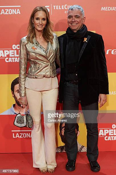 Sandra Ibarra and Juan Ramon Lucas attend the Ocho Apellidos Catalanes premiere at the Capitol cinema on November 18 2015 in Madrid Spain
