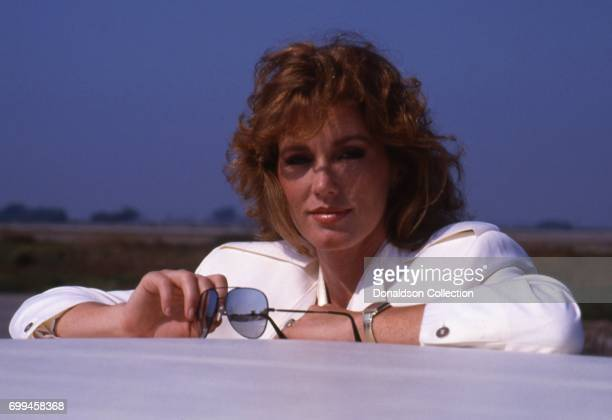 Sandra Kronemeyer from the cast of the tv show 'Airwolf' from midseason3 poses for a portrait in September 1985 in Los Angeles California