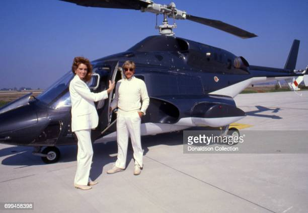 Sandra Kronemeyer with Alex Cord from the cast of the tv show 'Airwolf' midSeason 3 poses for a portrait in September 1985 in Los Angeles California