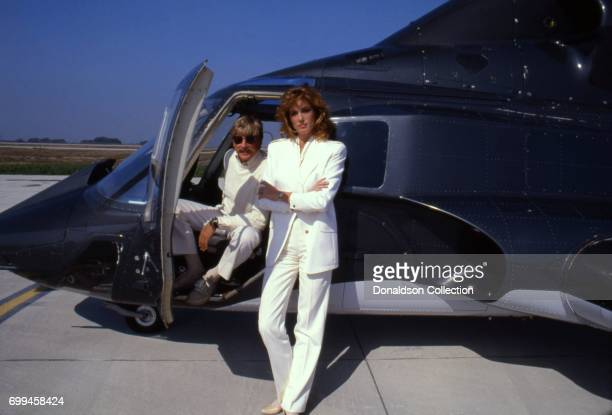 Sandra Kronemeyer with Alex Cordfrom the cast of the tv show 'Airwolf' midSeason 3 poses for a portrait in September 1985 in Los Angeles California