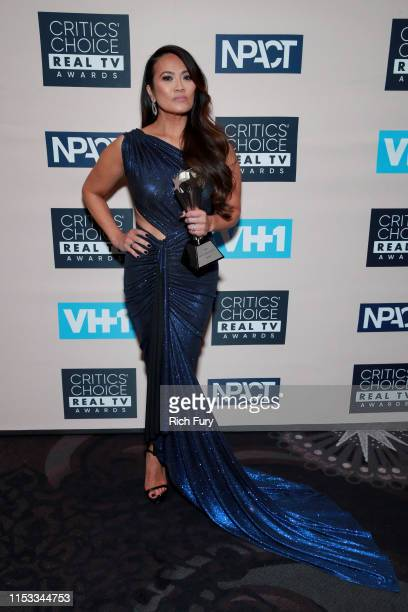 Sandra Lee aka Dr Pimple Popper winner of Female Star of the Year award poses in the press room during the Critics' Choice Real TV Awards at The...