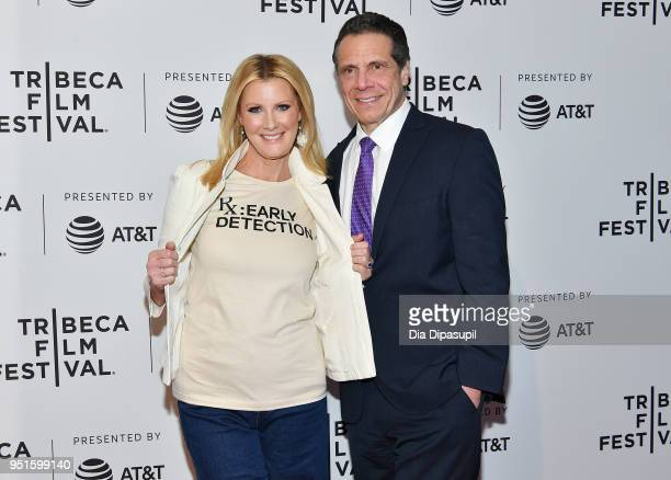 Sandra Lee and Governor of New York Andrew Cuomo attend a screening of 'RX Early Detection A Cancer Journey With Sandra Lee' during the 2018 Tribeca...