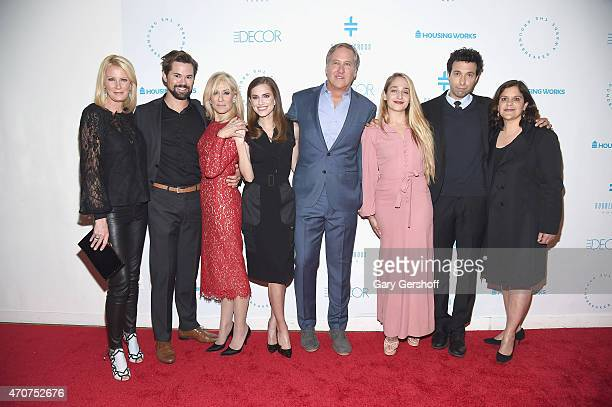 Sandra Lee Andrew Rannells Judith Light Allison Williams cochair host James Huniford Jemima Kirke Alex Karpovsky and producer for HBO's Girls Ilene...