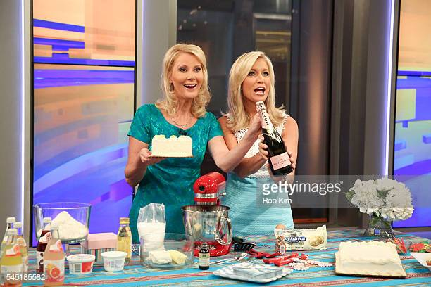 Sandra Lee appears on the Cooking With Friends segment of Fox Friends with host Ainsley Earhardt at FOX Studios on July 6 2016 in New York City