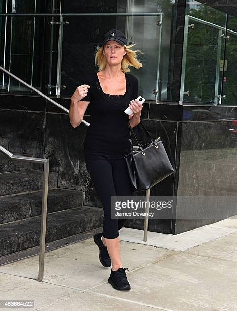 Sandra Lee is seen on the streets of Manhattan on her way to Mount Sinai Roosevelt Hospital on August 11 2015 in New York City