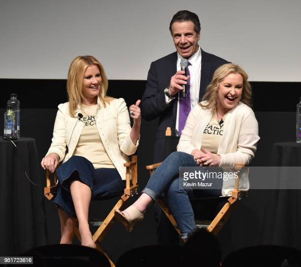 Sandra Lee New York Governor Andrew Cuomo and Kimber Lee speak on stage during the HBO Documentary Film 'RX Early Detection A Cancer Journey With...