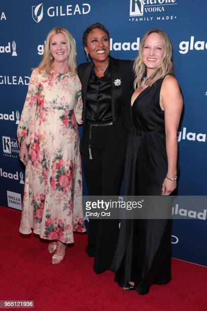 Sandra Lee Robin Roberts and Amber Laign attend the 29th Annual GLAAD Media Awards at The Hilton Midtown on May 5 2018 in New York City