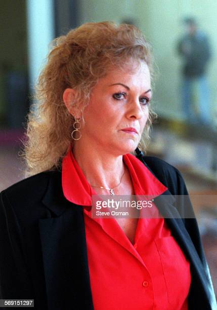 Sandra Lemich the third wife of accused bigamist Lloyd Wetzel outside Courtroom 12 at the Ventura County Municipal Court where he was arraigned on...