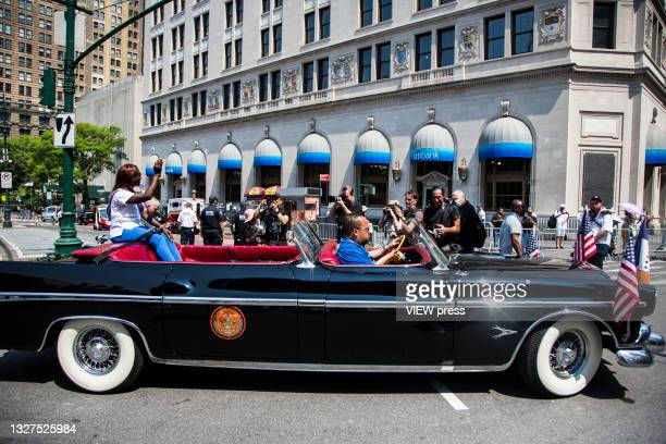 Sandra Lindsay, a Queens nurse who was the first American to receive the Pfizer vaccine in December, was the grand marshal of guiding hundreds of...