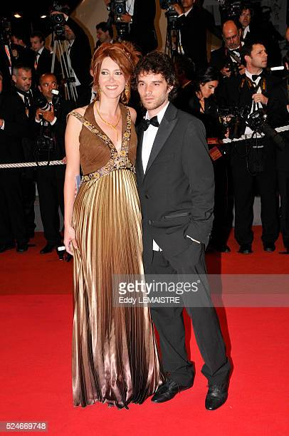Sandra Lou and date attend the premiere of 'Maradona' during the 61st Cannes Film Festival
