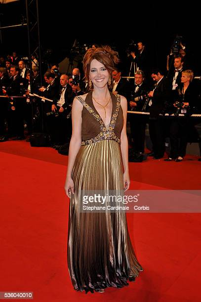 Sandra Lou attends the premiere of 'Maradona' during the 61st Cannes Film Festival