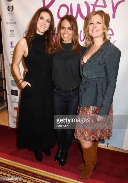 Sandra Lou Cali Morales from M6 meteo and Cristelle Crosnier attend the Power Attitude Party at Hotel Marriott on January 16 2020 in Paris France