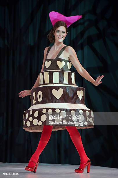Sandra Lou walks the runway during the 'Salon Du Chocolat' Fashion Show on October 29 2014 in Paris France