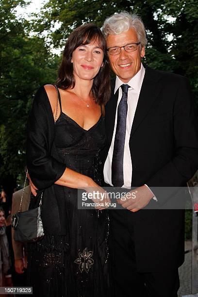 Sandra Maahn and Christoph Goetz attend the Nacht Der Medien on August 24, 2012 in Hamburg, Germany.