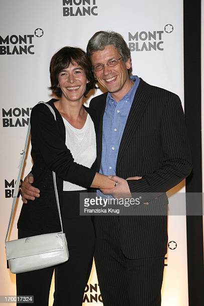 "Sandra Maahn and friend Christoph Goetz at The Premiere Of In ""Absolute Wilson"" And Dinner 65th Birthday Of Robert_Wilson In Hamburg."