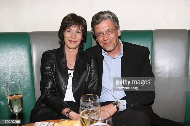 """Sandra Maahn and friend Christoph Goetz at The """"Vattenfall Business Media Night"""" In Alsterpavillon In Hamburg 210606."""