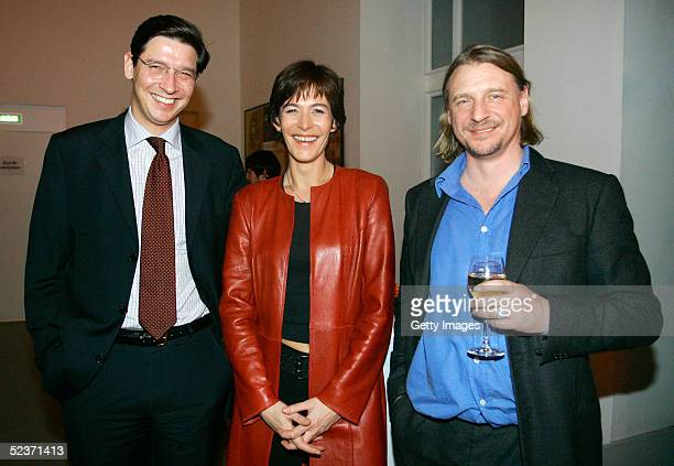 Sandra Maahn and Michael Otto Jr attend the banquet after the LEAD Awards 2005 ceremony at the Deichtorhallen on March 9 2005 in Hamburg Germany