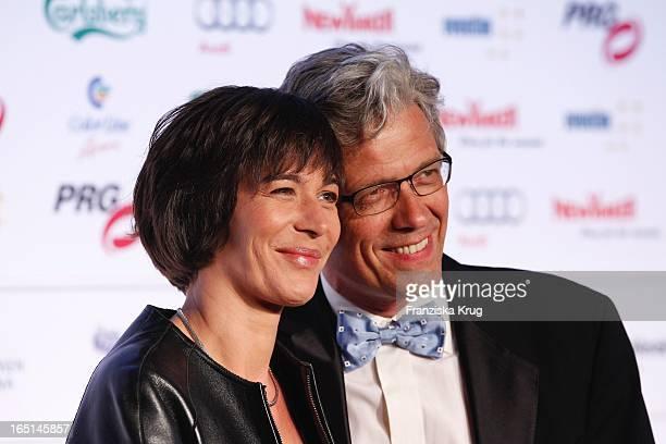Sandra Maahn Und Ehemann Dr Christoph Goetz Bei Der Verleihung Des Lea Awards In Der Color Line Arena In Hamburg
