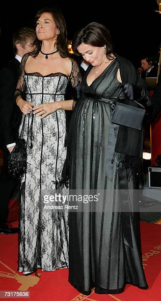 Sandra Maischberger and Maybrit Illner arrive at the 42nd Goldene Kamera Award at the UllsteinArena on February 1 2007 in Berlin Germany