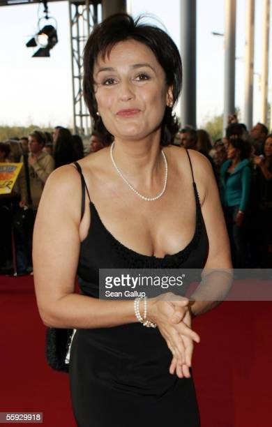 Sandra Maischberger arrives at the German Television Awards at the Coloneum on October 15 2005 in Cologne Germany