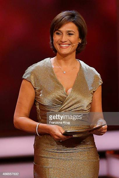 Sandra Maischberger attends the Deutscher Fernsehpreis 2014 show on October 02 2014 in Cologne Germany