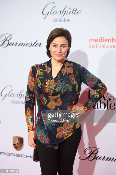 Sandra Maischberger attends the Medienboard BerlinBrandenburg Reception at The 68th Berlinale International Film Festival on February 17 2018 in...
