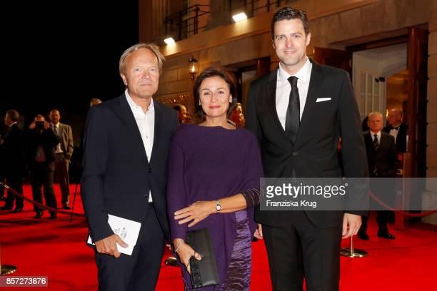 Sandra Maischberger Jan Kerhart and Matthias Schulz incoming director of Staatsoper attend the ReOpening of the Staatsoper Unter den Linden on...