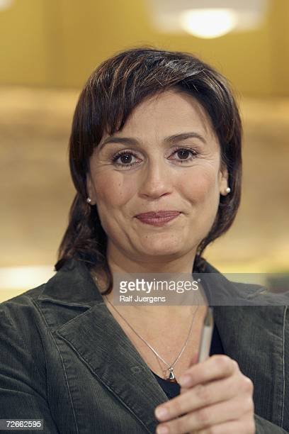 Sandra Maischberger poses after the taping of the 'Maischberger Talk show' on November 28 2006 in Cologne Germany