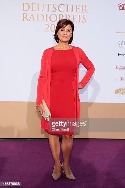 Sandra Maischberger poses during the Deutscher Radiopreis 2015 at Schuppen 52 on September 3 2015 in Hamburg Germany
