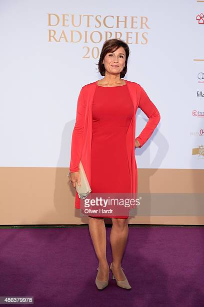 Sandra Maischberger poses during the Deutscher Radiopreis 2015 at Schuppen 52 on September 3 2015 in Hamburg Germany