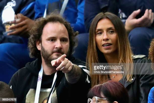 Sandra Mandanda wife of Steve Mandanda of France attends the 2018 FIFA World Cup Russia Semi Final match between Belgium and France at Saint...