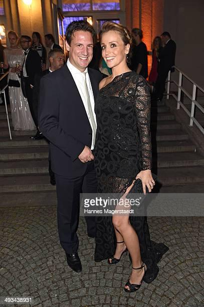 Sandra Maria Meier and Klaus Gronewald attend the 'Bayerischer Fernsehpreis 2014' at Prinzregententheater on May 23 2014 in Munich Germany